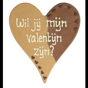 Bonvanie chocolade Wil je mijn valentijn zijn? - Chocoladehart