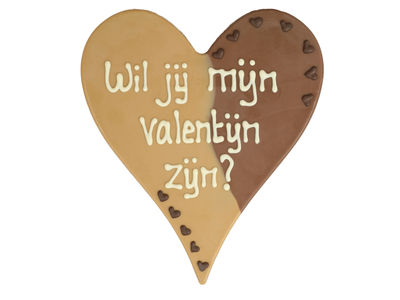 Bonvanie chocolade Wil je mijn valentijn zijn? - Chocoladehart XL
