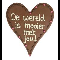 De wereld is mooier met jou - Chocoladehart
