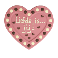Liefde is jij - Chocoladehart met stippen