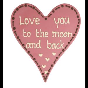 Bonvanie chocolade Love you to the moon and back - Chocoladehart
