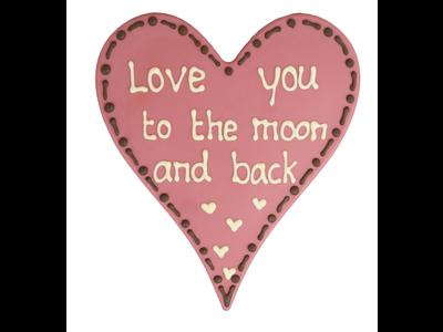 Bonvanie chocolade Love you to the moon and back - Chocoladehart XL