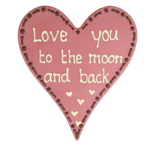 Bonvanie chocolade Love you to the moon and back - Chocoladehart  XL