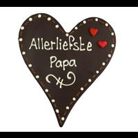 Allerliefste papa - Chocoladehart XL met stippen
