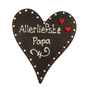 Bonvanie chocolade Allerliefste papa - Chocoladehart met stippen