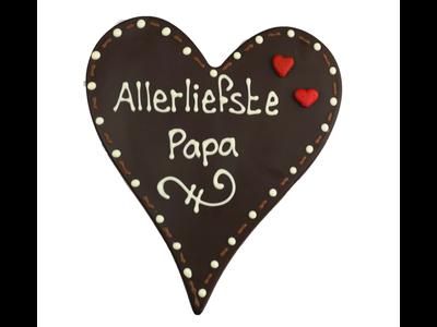 Bonvanie chocolade Allerliefste papa - Chocoladehart XL met stippen
