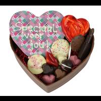 XXL gevuld hart van chocolade