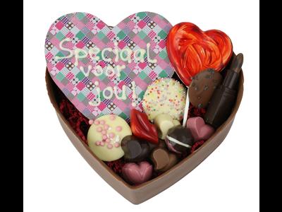 Bonvanie chocolade XXL gevuld hart van chocolade