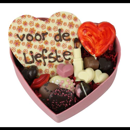 Bonvanie chocolade XXL gevuld hart van chocolade met diverse chocolade