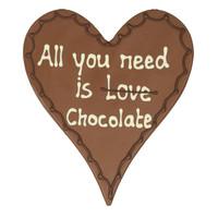 All you need is love/chocolate - Chocoladehart