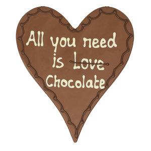 Bezorging door Bonvanie of laten versturen All you need is love/chocolate