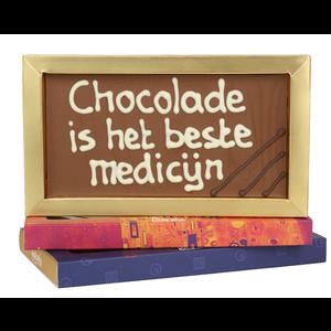 Bonvanie chocolade Chocolade is het beste medicijn - Chocoladereep met tekst