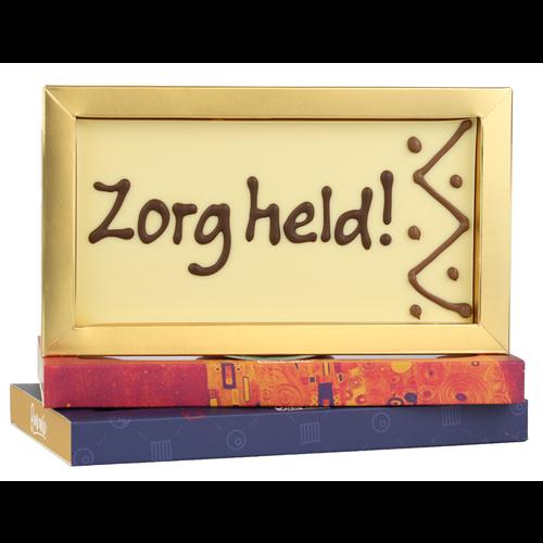 Bonvanie chocolade Zorgheld - Chocoladereep met tekst