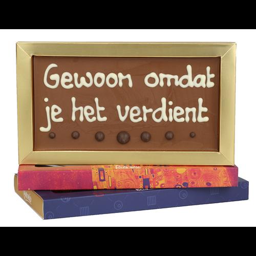 Bonvanie chocolade Gewoon omdat je het verdient - Chocoladereep met tekst