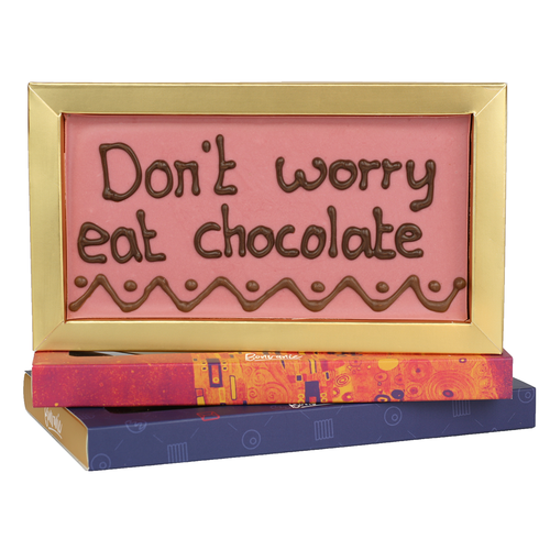 Bonvanie chocolade Don't worry eat chocolate - Chocoladereep