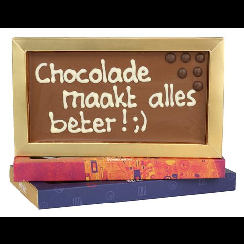 Bonvanie chocolade Chocolade maakt alles beter! - Chocoladereep