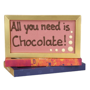 Bonvanie chocolade All you need is chocolate! - Chocoladereep met tekst