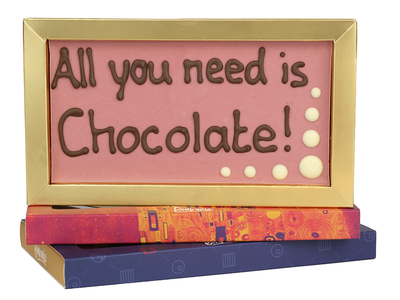 Bonvanie chocolade All you need is chocolate! - Chocoladereep met tekst