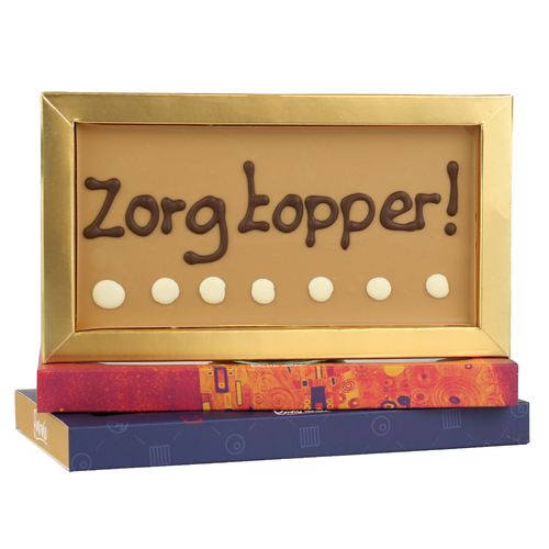 Bonvanie chocolade Zorgtopper - Chocoladereep met tekst