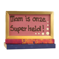 Mam is onze superheld - Chocoladereep met tekst
