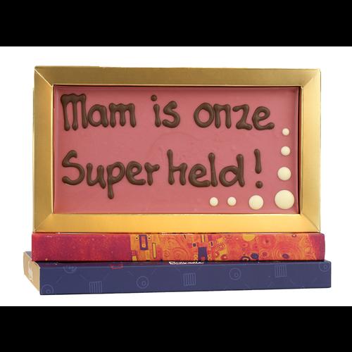 Bonvanie chocolade Mam is onze superheld - Chocoladereep