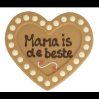 Mama is de beste - Chocoladehart XL met stippen