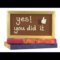 You did it - Chocoladereep met tekst