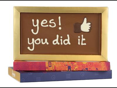 Bonvanie chocolade You did it - Chocoladereep met tekst