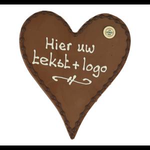 Bonvanie chocolade Chocoladehart - Eigen opschrift met logo
