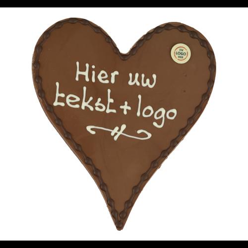 Bonvanie chocolade Chocoladehart XL - Eigen opschrift met logo