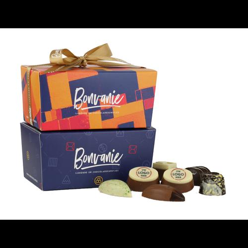 Bonvanie chocolade Ambachtelijke bonbons met logo 360 gram