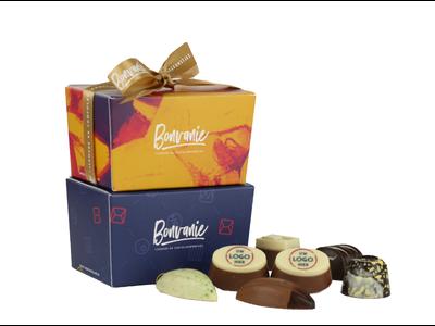 Bonvanie chocolade Bonbons met logo 150 gram