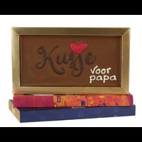 Kusje voor papa - Chocoladereep met tekst