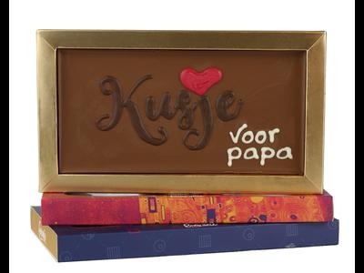 Bonvanie chocolade Kusje voor papa - Chocoladereep met tekst