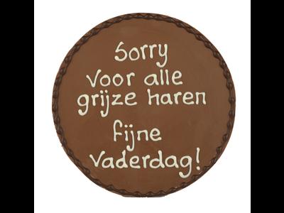 Bonvanie chocolade Sorry voor de grijze haren - Chocoladeplakkaat