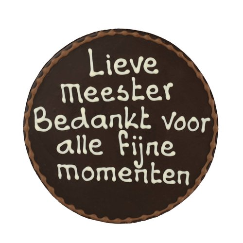 Bonvanie chocolade Lieve Meester - Chocoladeplakkaat