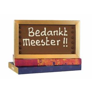 Bonvanie chocolade Bedankt meester! - Chocoladereep met tekst