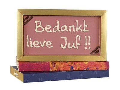 Bonvanie chocolade Bedankt lieve juf! - Chocoladereep met tekst
