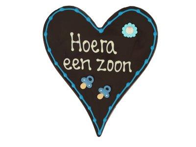 Bonvanie chocolade Hoera een zoon - Chocoladehart XL