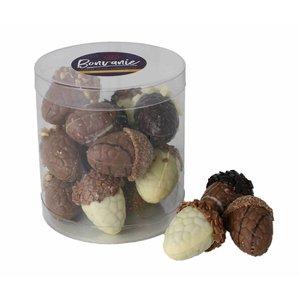 Bonvanie chocolade Gevulde eikeltjes, diverse soorten in koker