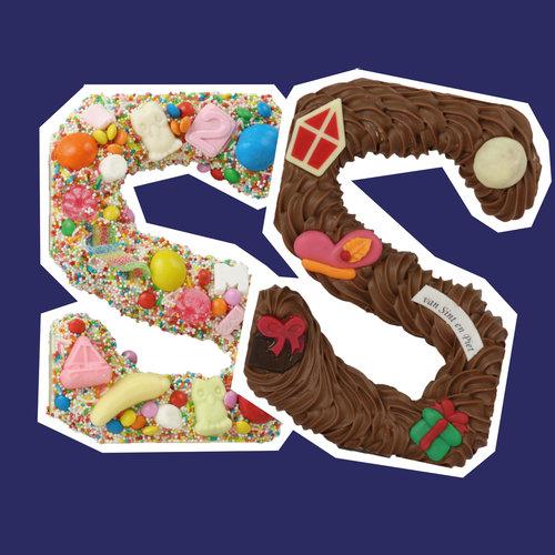 Handgespoten chocoladeletters