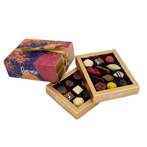 Bonvanie chocolade Chocoladekastje gevuld met bonbons - 2 lades
