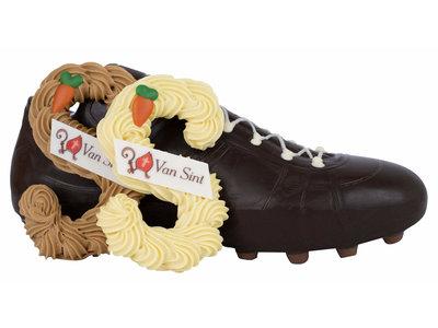 Bonvanie chocolade Handgespoten chocoladeletter voor in de schoen
