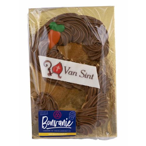Bonvanie chocolade Handgespoten schoenletter, diverse smaken