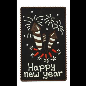 Bonvanie chocolade Happy new year - Chocoladeplakkaat