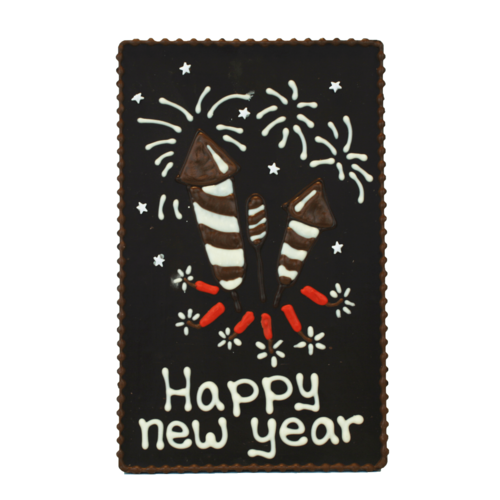 Bonvanie chocolade Happy new year - Chocoladeplakkaat