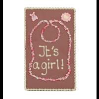 It's a girl! - Chocoladeplakkaat