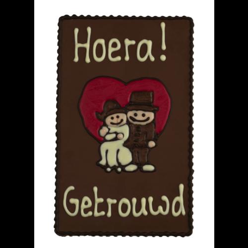 Bonvanie chocolade Hoera, getrouwd! - Chocoladeplakkaat
