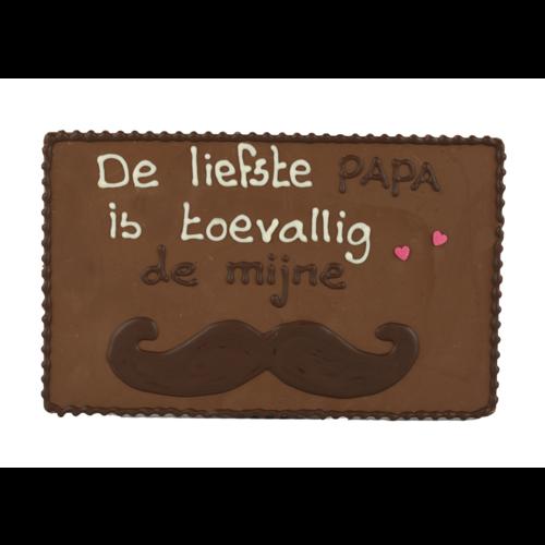 Bonvanie chocolade De liefste papa - Chocoladeplakkaat
