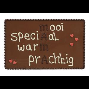 Bonvanie chocolade Mama - Chocoladeplakkaat met tekst